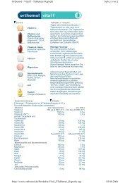 Seite 1 von 2 Orthomol - Vital f - Tabletten+Kapseln ... - DocMorris