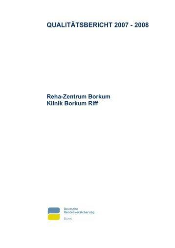 Qualitätsbericht 2008/2009 - Rehazentrum Klinik Borkum Riff