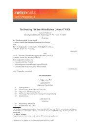 Tarifvertrag für den öffentlichen Dienst (TVöD) - rehmnetz.de