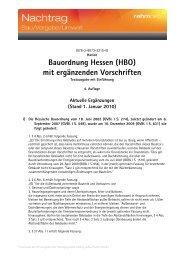 Bauordnung Hessen (HBO) mit ergänzenden ... - rehmnetz.de