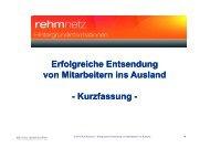 Erfolgreiche Entsendung von Mitarbeitern ins Ausland ... - rehmnetz.de