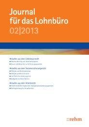 Journal für das Lohnbüro 02|2013 - rehmnetz.de