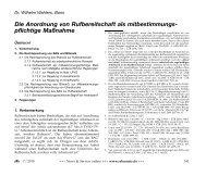 Die Anordnung von Rufbereitschaft als mitbestimmungs - rehmnetz.de