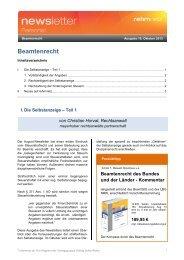 Beamtenrecht - rehmnetz.de