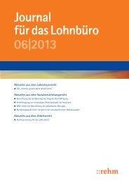 Journal für das Lohnbüro 06|2013 - rehmnetz.de