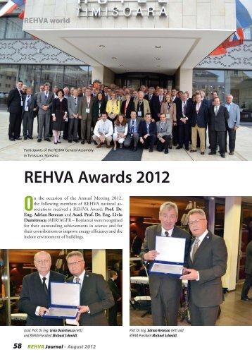 REHVA Awards 2012