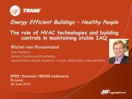 Role of HVAC technologies and buildings controls in ... - rehva
