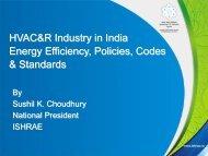 HVAC&R Industry in India Energy Efficiency, Policies, Codes ... - rehva