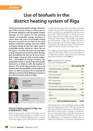 Use of biofuels in the district heating system of Riga - rehva