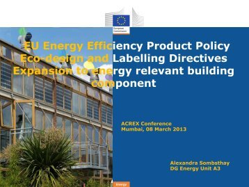 EU Energy Efficiency Product Policy Eco-design and ... - rehva