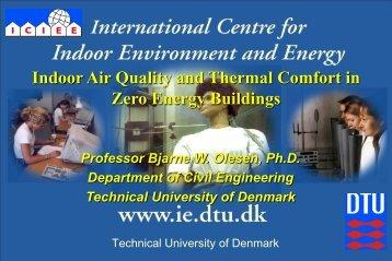IAQ and thermal comfort in zero energy buildings - rehva