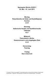 Speiseplan Woche 22/2011 30. Mai – 01. Juni 2011 Montag ...