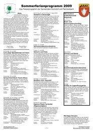 Sommerferienprogramm 2009 - Gemeinde Reichenbach an der Fils