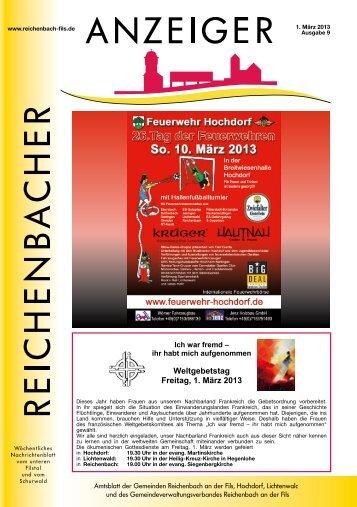 Kalenderwoche 9 - Gemeinde Reichenbach an der Fils