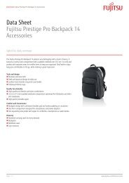 Data Sheet Fujitsu Prestige Pro Backpack 14 Accessories - Icecat