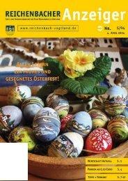 Allen Lesern ein frohes und gesegnetes Osterfest! - Reichenbach