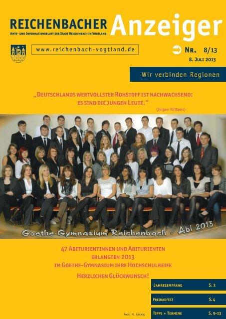 8/13 47 Abiturientinnen und Abiturienten erlangten ... - Reichenbach