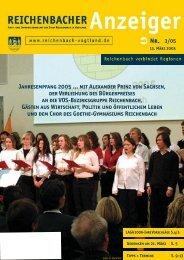 Jahresempfang 2005 ... mit Alexander Prinz von ... - Reichenbach