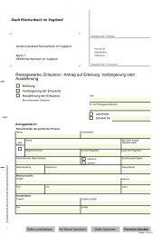 Reisegewerbe, Erlaubnis - Antrag auf Erteilung ... - Reichenbach