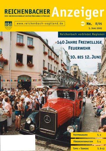140 Jahre Freiwillige Feuerwehr 10. bis 12. Juni - Reichenbach