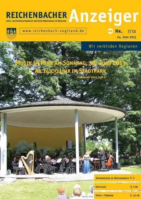Musik im Park am Sonntag, 30. Juni 2013 ab 14.00 ... - Reichenbach