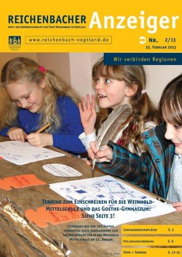 Mittelschule und das Goethe-Gymnasium - Reichenbach