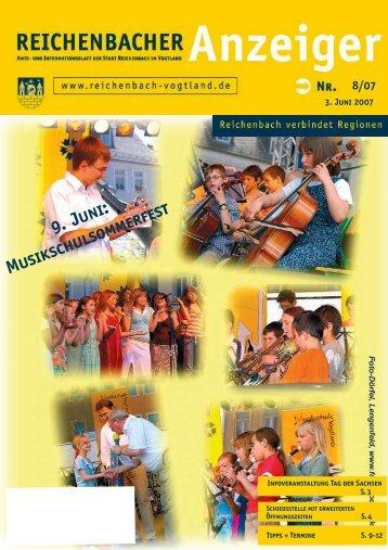 9. Juni: Musikschulsommerfest - Reichenbach