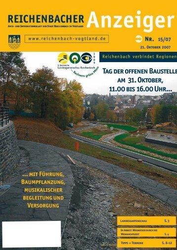 Tag der offenen Baustelle am 31. Oktober, 11.00 bis ... - Reichenbach