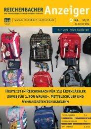 Heute ist in Reichenbach für 113 Erstklässler sowie für 1.305 Grund ...