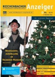 Weihnachts- ausstellung im Neuberin-Museum - Reichenbach