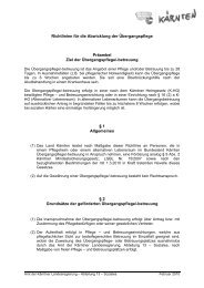 Richtlinien für die Abwicklung der Übergangspflege Präambel Ziel ...