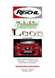 ab Modell 2009 Autohaus Reichl GmbH & Co. KG Ausserwall 17 A ...