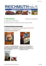 7. Newsletter - REICHMUTH Wohn
