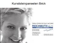 1. die Kollektion Brick (Bachsteinoptik) - REICHMUTH Wohn