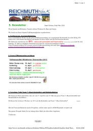 5. Newsletter - REICHMUTH Wohn