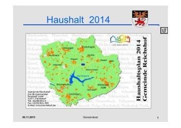 Haushaltsrede_2014_Folien. pdf - Gemeinde Reichshof