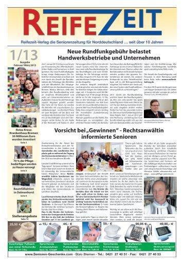 Ausgabe 01/2013 - Reifezeit.net