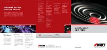 Dichtelemente - REIFF Technische Produkte