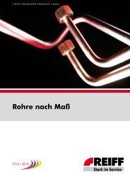 Rohre nach Maß - REIFF Technische Produkte