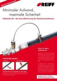Minimaler Aufwand, maximale Sicherheit - REIFF Technische ...