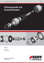 Führungsrolle mit Exzenterbolzen - REIFF Technische Produkte