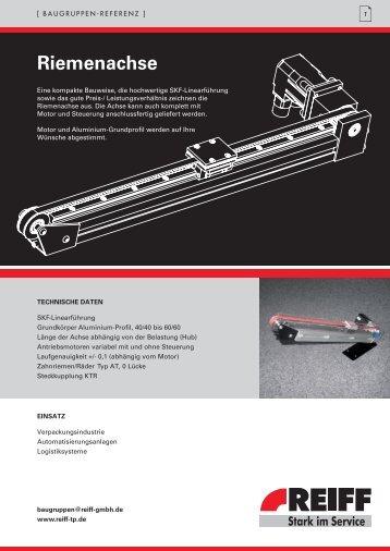 Riemenachse - REIFF Technische Produkte