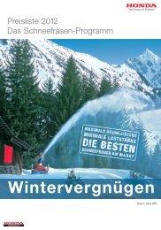 Preisliste Schneefräsen (PDF)