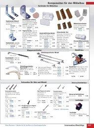 Komponenten für den Möbelbau