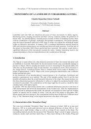 MONITORING OF A LANDSLIDE IN VORARLBERG/AUSTRIA - FIG