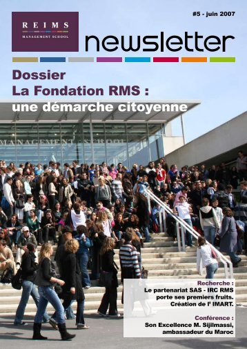 Dossier La Fondation RMS - Reims Management School