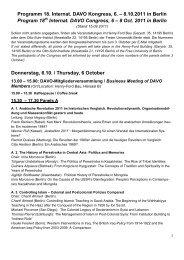 Programm 18. Internat. DAVO Kongress, 6. – 8.10.2011 in Berlin ...