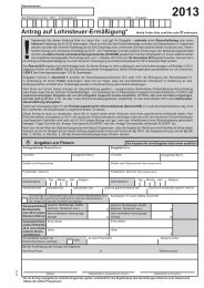 Lohnsteuer-Ermäßigungsantrag 2013