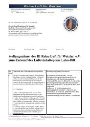 StellungnahmeReineLuft - Reine Luft für Wetzlar