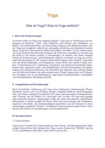 Yoga - Didaktikreport
